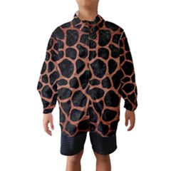 SKN1 BK MARBLE COPPER (R) Wind Breaker (Kids)