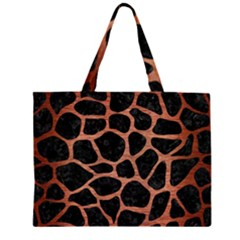 SKN1 BK MARBLE COPPER (R) Large Tote Bag