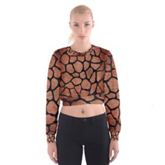 SKN1 BK MARBLE COPPER Women s Cropped Sweatshirt