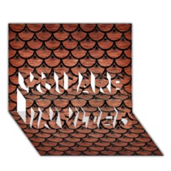 Scales3 Black Marble & Copper Brushed Metal (r) You Are Invited 3d Greeting Card (7x5)