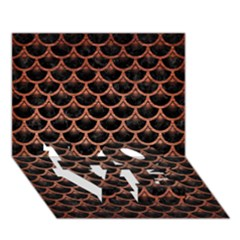 Scales3 Black Marble & Copper Brushed Metal Love Bottom 3d Greeting Card (7x5)