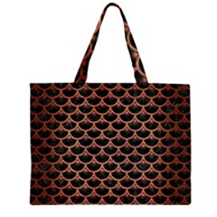 SCA3 BK MARBLE COPPER Large Tote Bag