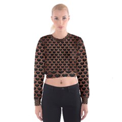 SCA3 BK MARBLE COPPER Women s Cropped Sweatshirt