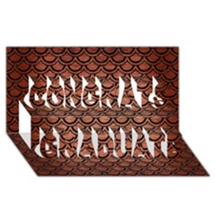 Scales2 Black Marble & Copper Brushed Metal (r) Congrats Graduate 3d Greeting Card (8x4)