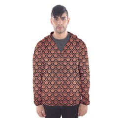 SCA2 BK MARBLE COPPER (R) Hooded Wind Breaker (Men)