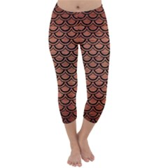 SCA2 BK MARBLE COPPER (R) Capri Winter Leggings