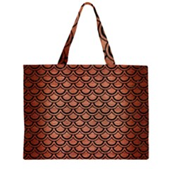 SCA2 BK MARBLE COPPER (R) Large Tote Bag