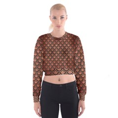 SCA2 BK MARBLE COPPER (R) Women s Cropped Sweatshirt