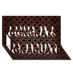 Scales2 Black Marble & Copper Brushed Metal Congrats Graduate 3d Greeting Card (8x4)