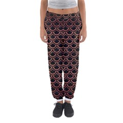 Scales2 Black Marble & Copper Brushed Metal Women s Jogger Sweatpants