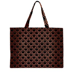 SCA2 BK MARBLE COPPER Large Tote Bag