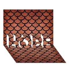 Scales1 Black Marble & Copper Brushed Metal (r) Hope 3d Greeting Card (7x5)