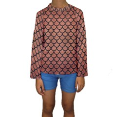 SCA1 BK MARBLE COPPER (R) Kid s Long Sleeve Swimwear