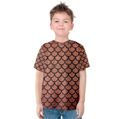 SCA1 BK MARBLE COPPER (R) Kid s Cotton Tee
