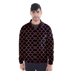 SCA1 BK MARBLE COPPER Wind Breaker (Men)