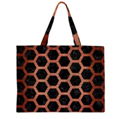 HXG2 BK MARBLE COPPER Large Tote Bag