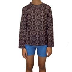 HXG1 BK MARBLE COPPER Kid s Long Sleeve Swimwear
