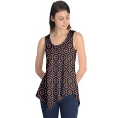 HXG1 BK MARBLE COPPER Sleeveless Tunic