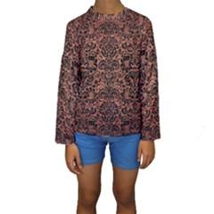 DMS2 BK MARBLE COPPER (R) Kid s Long Sleeve Swimwear
