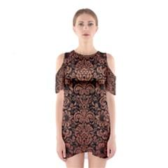 DMS2 BK MARBLE COPPER Cutout Shoulder Dress