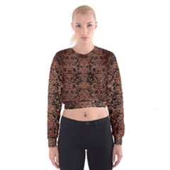 DMS2 BK MARBLE COPPER Women s Cropped Sweatshirt