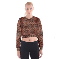 DMS1 BK MARBLE COPPER (R) Women s Cropped Sweatshirt