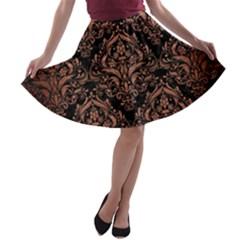 DMS1 BK MARBLE COPPER A-line Skater Skirt