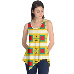 Connected Squares And Triangles Sleeveless Tunic