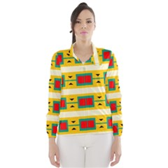 Connected Squares And Triangles Wind Breaker (women)