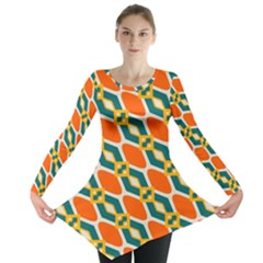 Chains and squares pattern Long Sleeve Tunic