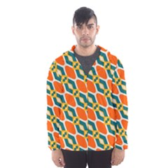 Chains and squares pattern Mesh Lined Wind Breaker (Men)