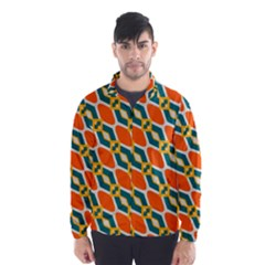 Chains and squares pattern Wind Breaker (Men)