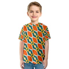 Chains and squares pattern Kid s Sport Mesh Tee