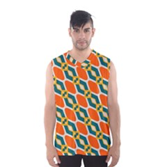 Chains And Squares Pattern Men s Basketball Tank Top