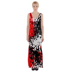 Glass texture  Maxi Thigh Split Dress