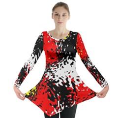 Glass Texture  Long Sleeve Tunic
