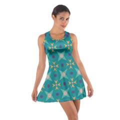 Flowers and stars pattern   Cotton Racerback Dress
