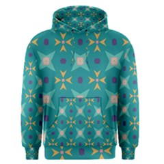 Flowers And Stars Pattern   Men s Pullover Hoodie