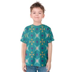 Flowers and stars pattern   Kid s Cotton Tee