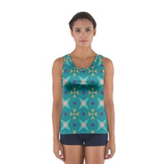 Flowers and stars pattern   Women s Sport Tank Top