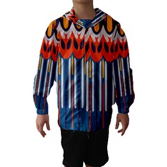 Textured shapes in retro colors    Hooded Wind Breaker (Kids)
