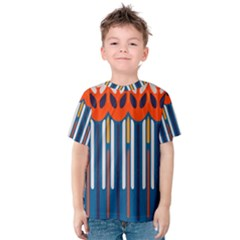 Textured shapes in retro colors    Kid s Cotton Tee