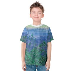 Fantasy Landscape Photo Collage Kid s Cotton Tee