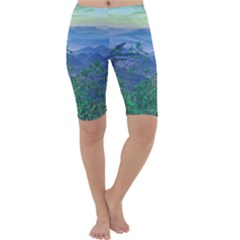 Fantasy Landscape Photo Collage Cropped Leggings