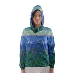 Fantasy Landscape Photo Collage Hooded Wind Breaker (Women)