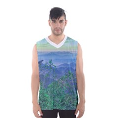 Fantasy Landscape Photo Collage Men s Basketball Tank Top