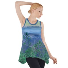 Fantasy Landscape Photo Collage Side Drop Tank Tunic