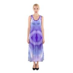 Beautiful Blue Purple Pastel Pattern, Full Print Maxi Dress