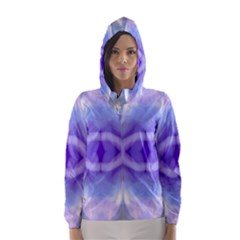 Beautiful Blue Purple Pastel Pattern, Hooded Wind Breaker (women)