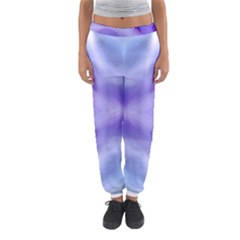 Beautiful Blue Purple Pastel Pattern, Women s Jogger Sweatpants